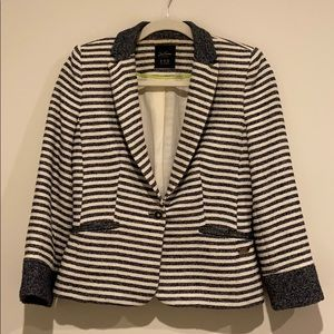Zara Blazer white and blue stripes.